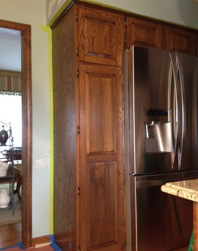 BEFORE Kitchen Cabinets Prior To Re-Painting - Johnsburg IL
