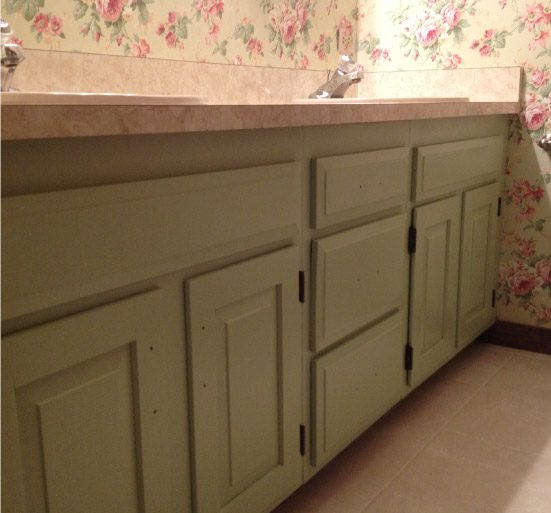 Finish Painted Bathroom Vanity