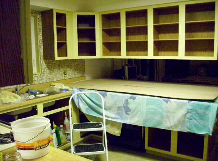 Finish Painting Cabinets During