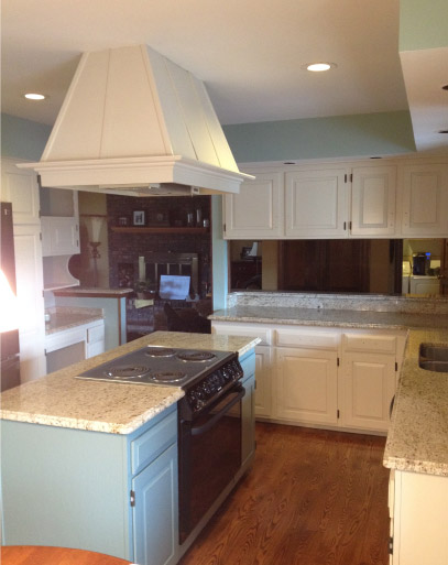 AFTER Finish Painted Kitchen Cabinets - Johnsburg IL
