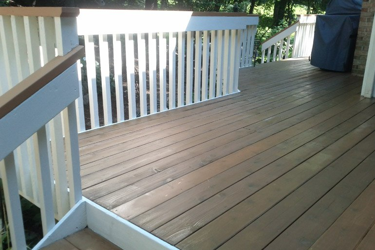 2 Colored Stained Deck - Crystal Lake IL