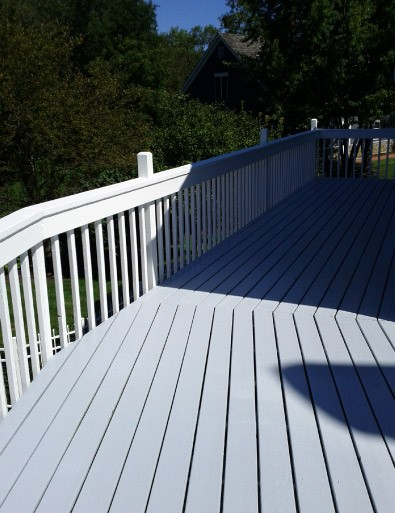 AFTER Stained Deck Floor - Barrington IL