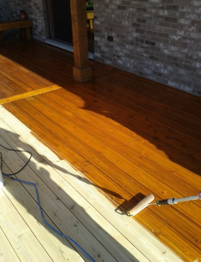 Deck Floor Staining