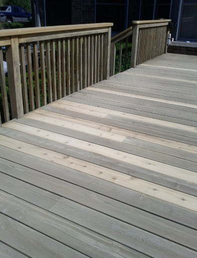 Deck Sanded Ready For Finish Staining