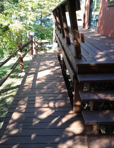 Finish Stained Deck Wooden Walkway - Silver Lake WI
