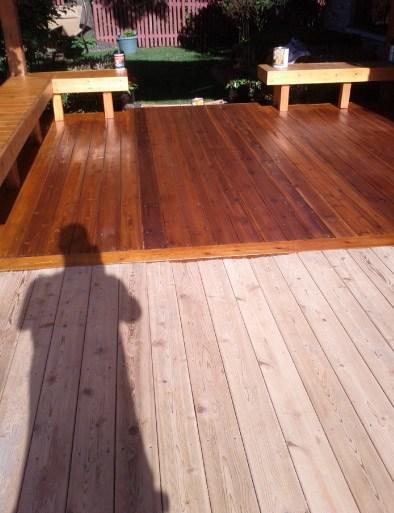 Staining Cedar Deck