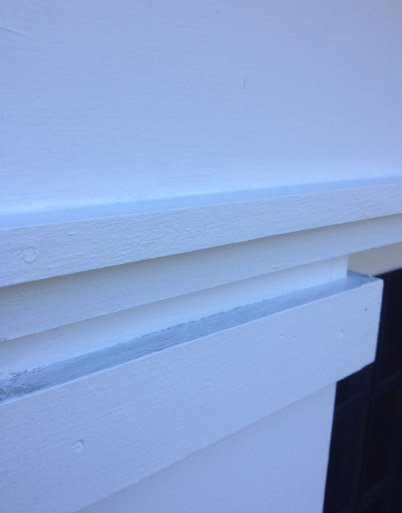 Caulk Putty Prime Finish Paint Front Entryway Exterior Column - Algonquin IL