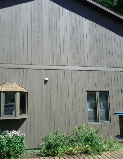 Dark Brown Solid Body Stained Cedar Siding - Beach Park IL