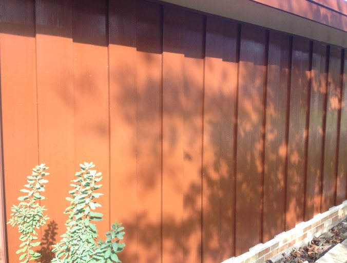 Exterior Oil Based Solid Body Stain On Vertical Cedar Siding - Des Plaines IL