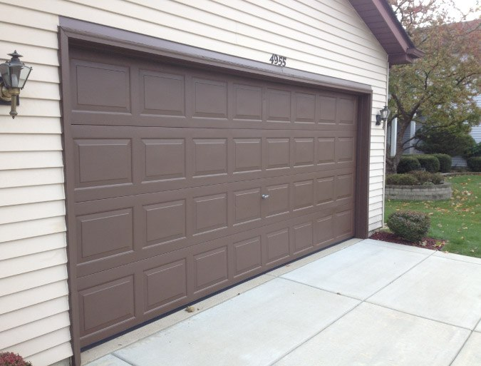 Finish Painted Garage Door - Barrington IL