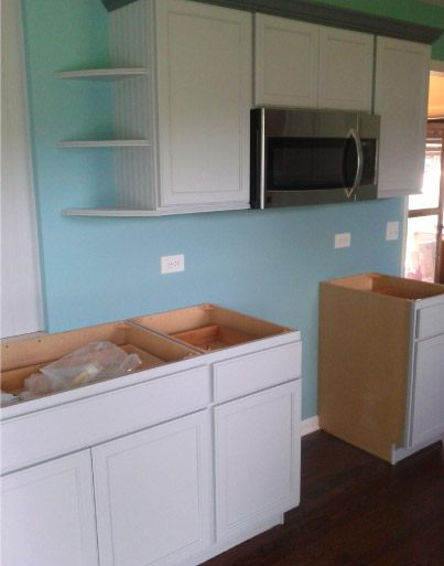 Finish Painted Kitchen Cabinets - Johnsburg IL