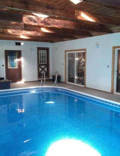 Interior Pool Room Cedar Interior Walls - Johnsburg IL