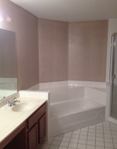 Wallpaper Removed, Walls Prepped, Finish Painted With Bath Spa Finish Paint - Hanover Park IL