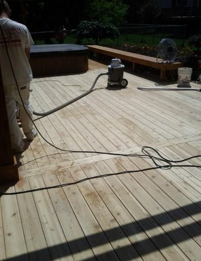 Deck Floor Sanding
