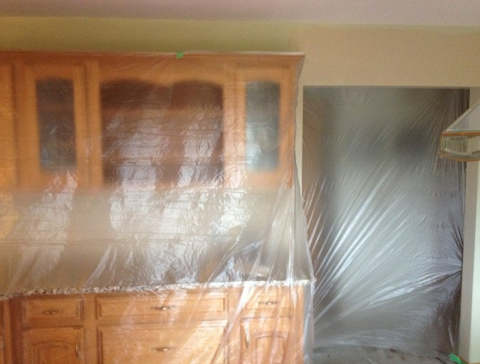 Plastic All Areas Prior To Painting - Spring Grove IL