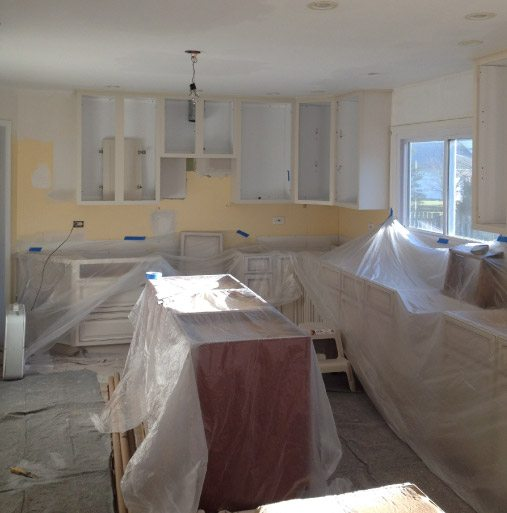Prepped Kitchen For Finish Painting - Mundelein IL